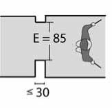 ECA - E Gehweg mit Engstellen
