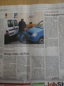 """Leserbrief von Martin Huth """"Wenige Autos, viel Platz"""""""