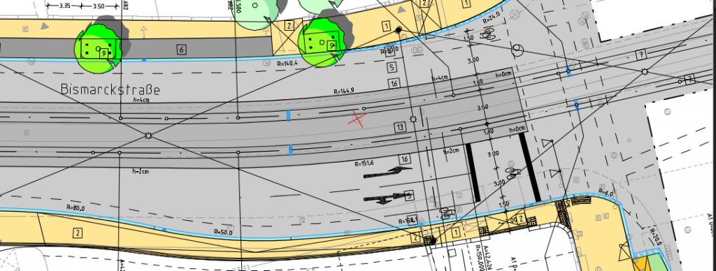 Plan Bismarckstr - Doliviostr 2012