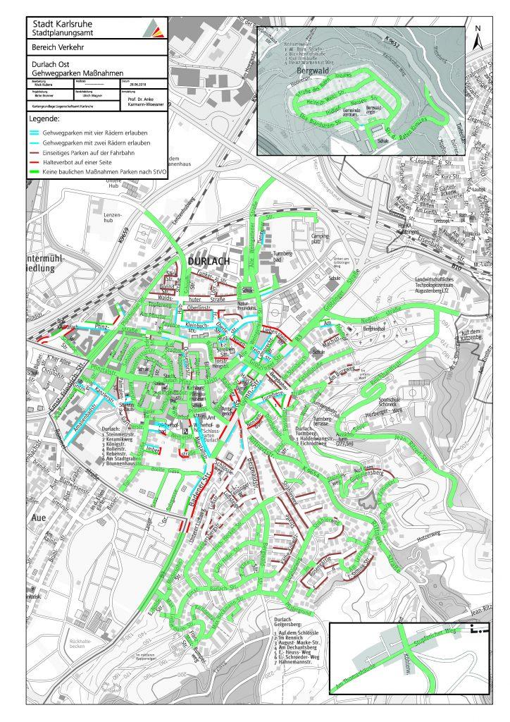 Gehwegparken Karlsruhe